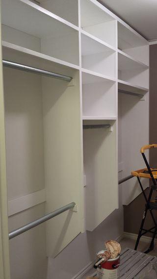 Steps in building a closet organizer