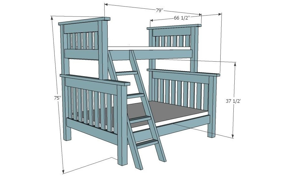 Wood Bunk Bed Plans Quick Woodworking Projects