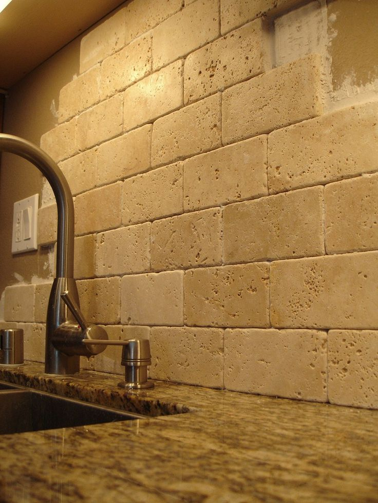 mirrored backsplash brick backsplashes