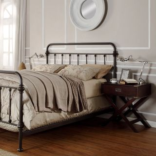 Metal Bed Headboard : Queen bed frame with metal headboard