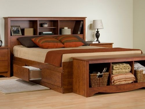 Futuristic Bed Frame With Headboard Design Ideas