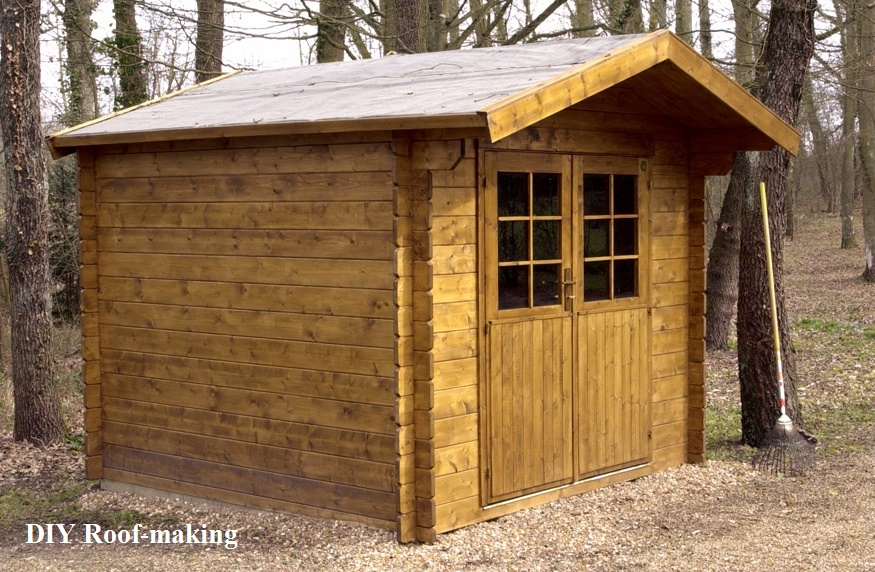 how to build shed's roof